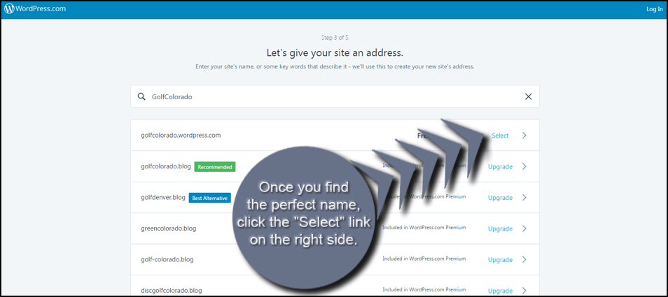 WordPress Select Name