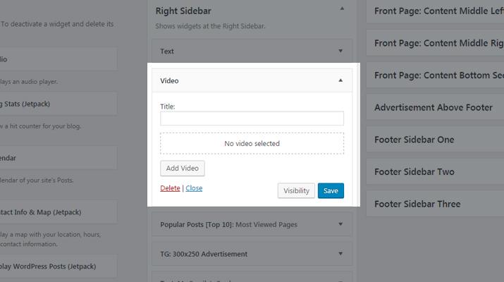 WordPress Video Widget