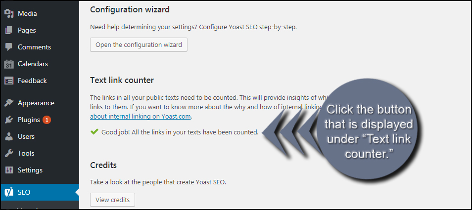 Yoast Text Link Counter
