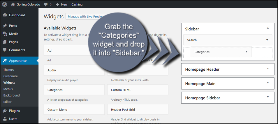 Add Widget To Sidebar