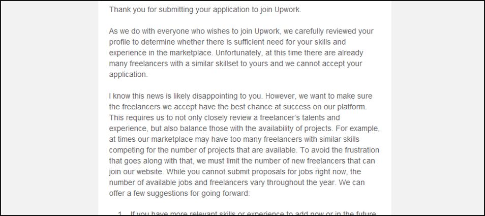 Upwork Denial