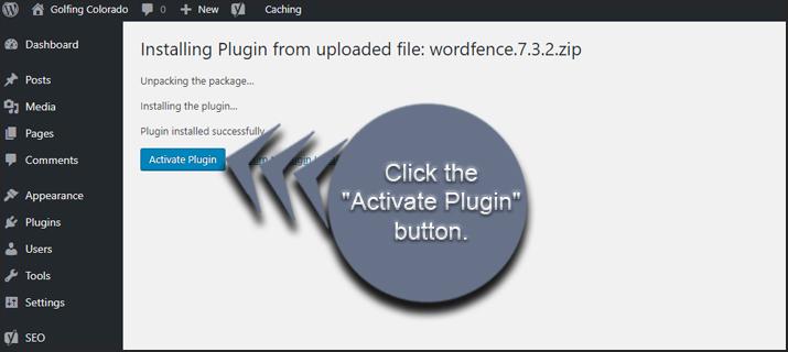 Activate Plugin Button