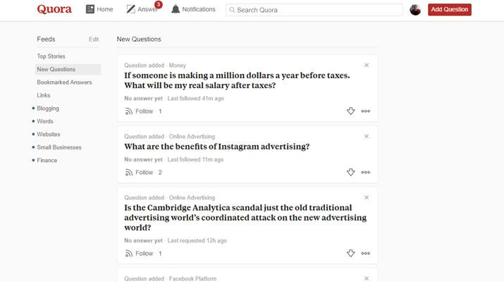 Using Quora