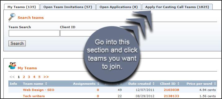 Join Textbroker Teams