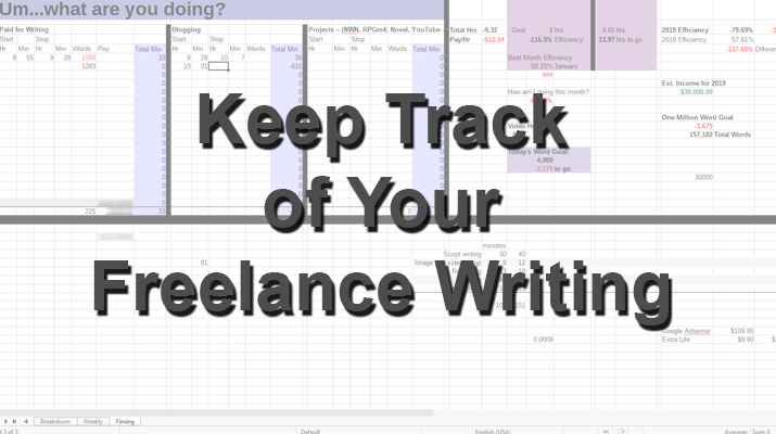Keep Track Freelance Writing