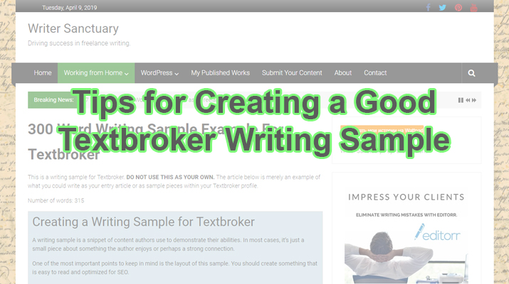 Textbroker Writing Sample Tips