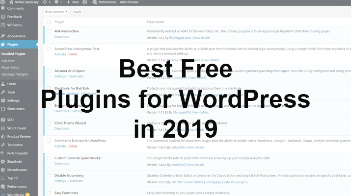 Best Free WordPress Plugins 2019