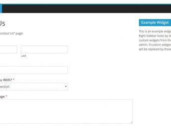 Contact Form In WordPress