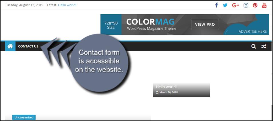 Contact Us Menu