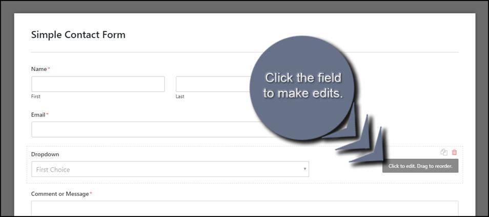 Edit Form Field
