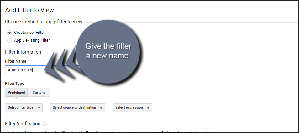 Amazon Filter Name