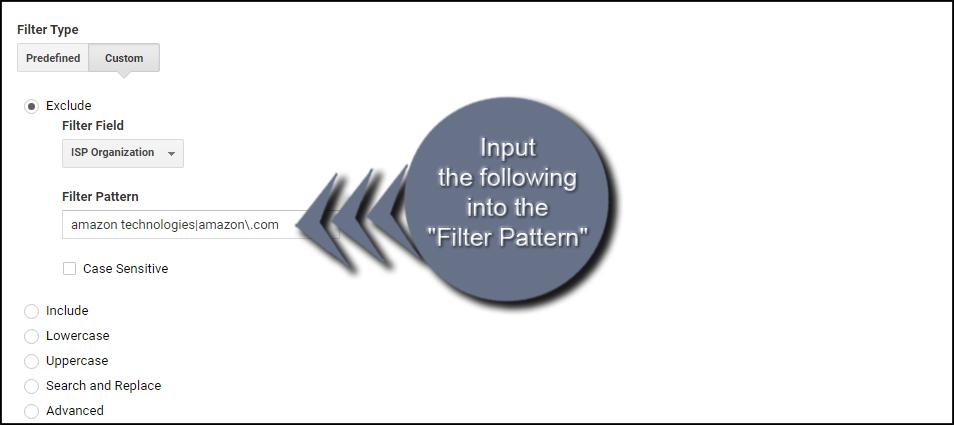 Amazon Filter Pattern
