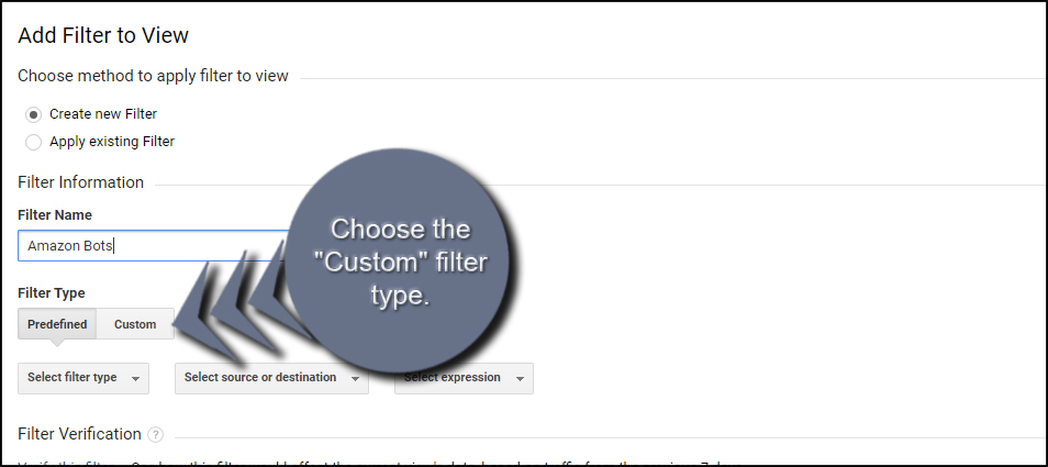 Custom Filter Type