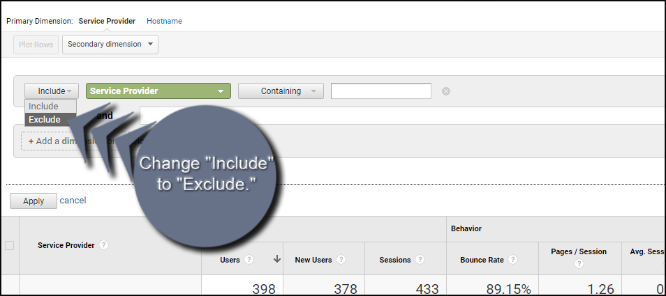 Include To Exclude