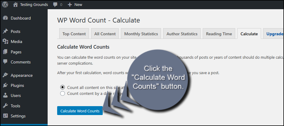 Calculate Word Counts