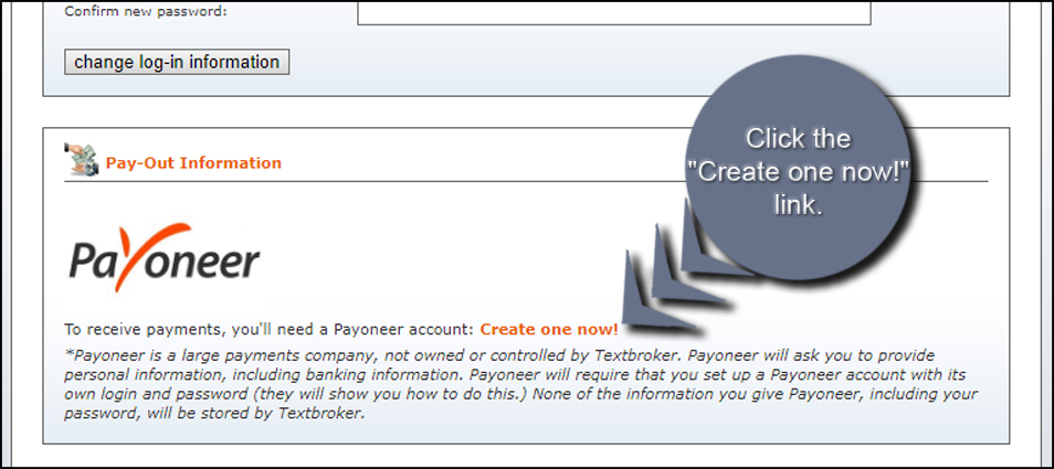 Create Payoneer Account