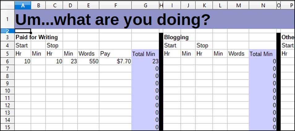 Spreadsheet Messages