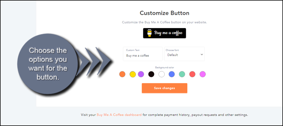 Customize The Button