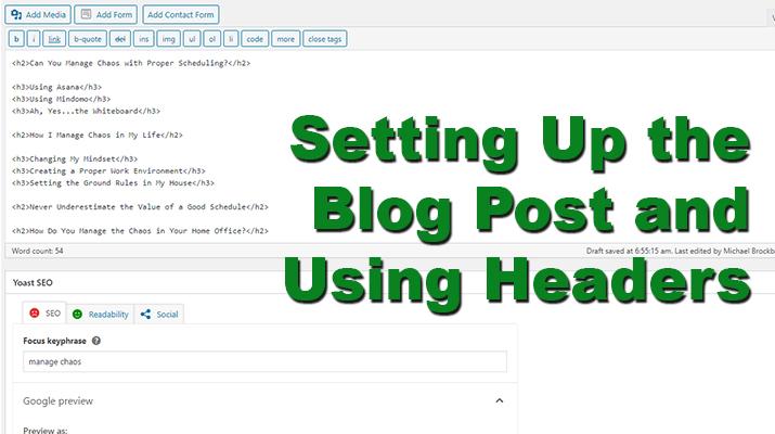 Set Up a Blog Post