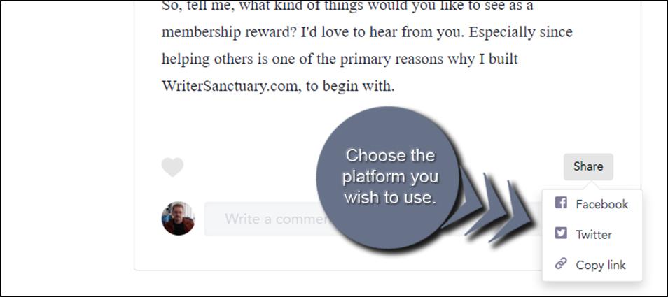 Choose Social Platform