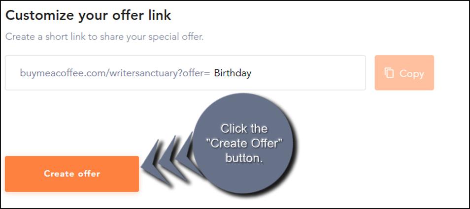 Custom Offer Link