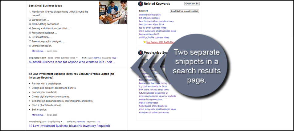 Two Featured Snippets