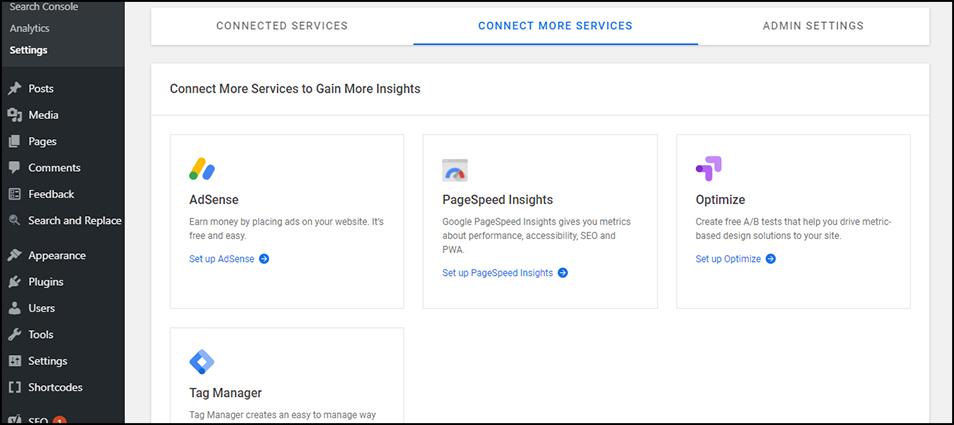 Available Google Services