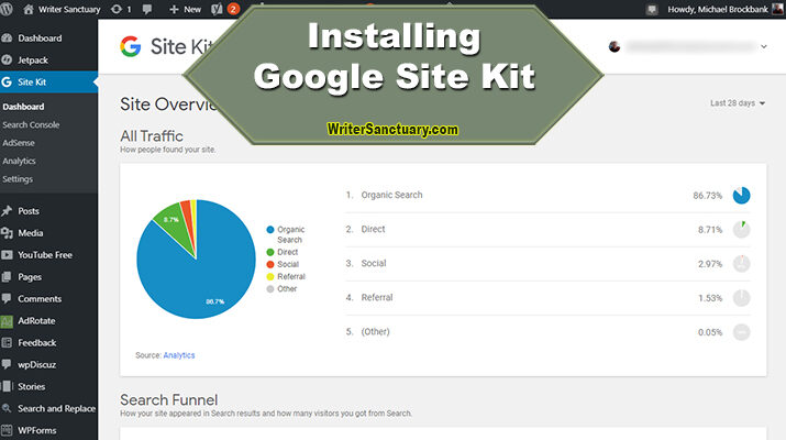 Installing Google Site Kit