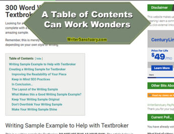 Why a Table of Contents Matters In Your Blog Posts