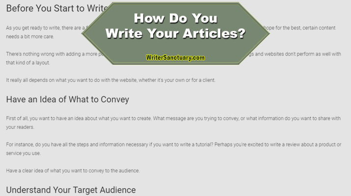 Write an Article