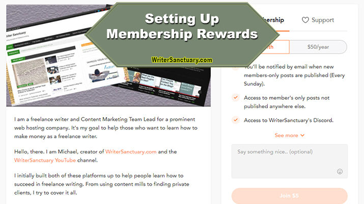 WriterSanctuary Membership Rewards