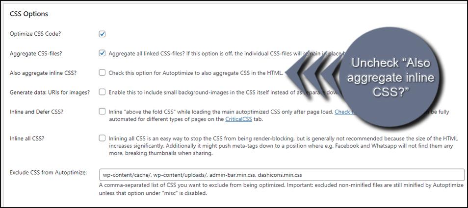Aggregate CSS