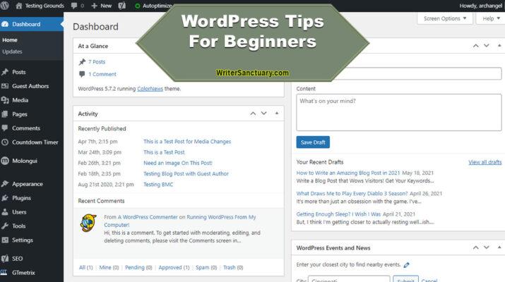 WordPress Tips for Beginners